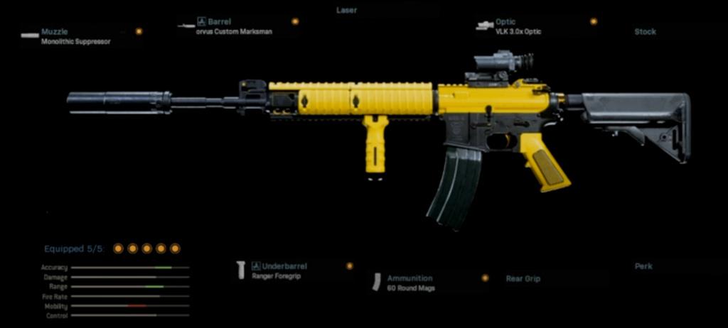 Warzone M4 Loadout sans recul Nickmercs