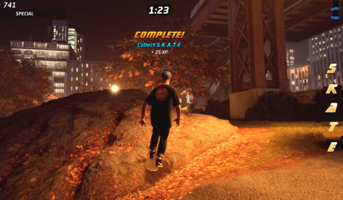 Collect S-K-A-T-E in NY City in Tony Hawk
