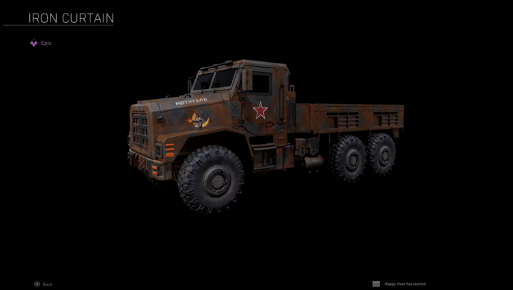 Iron Curtain Truck Warzone débloquer