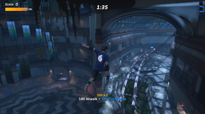 How to Airwalk the Flying Leap Gap at the Mall in THPS
