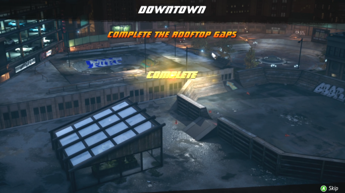 How to complete the Rooftop Gaps in Downtown Tony Hawk