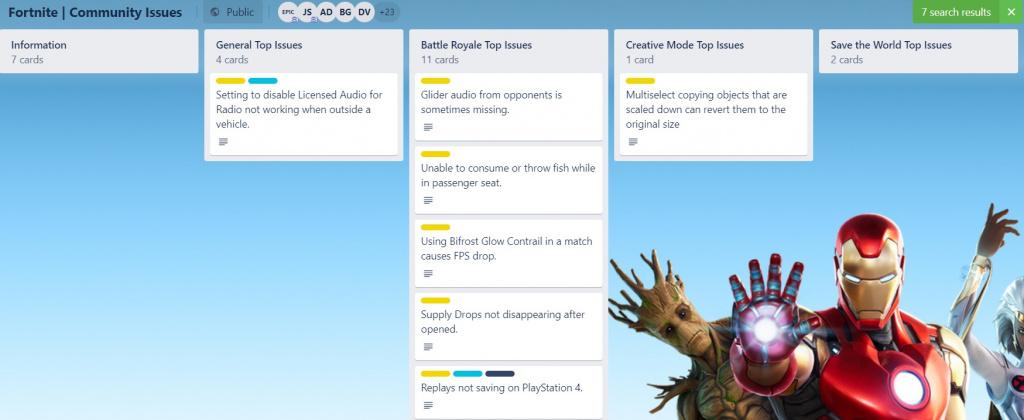 Les notes de mise à jour de Fortnite v14.10 corrigent la prochaine mise à jour