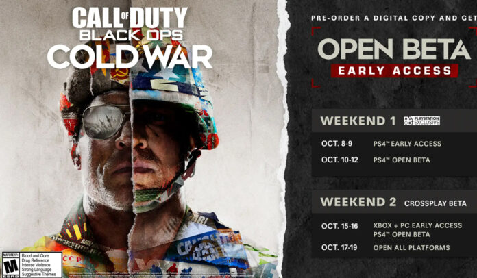 Call of Duty Black Ops Cold War open beta dates and schedule