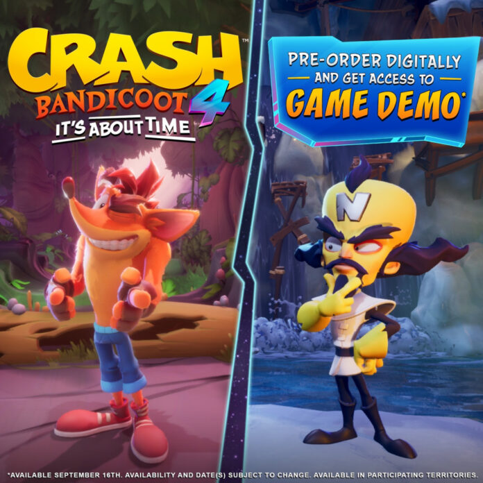 Crash Bandicoot 4 demo, how to get crash bandicoot 4 demo