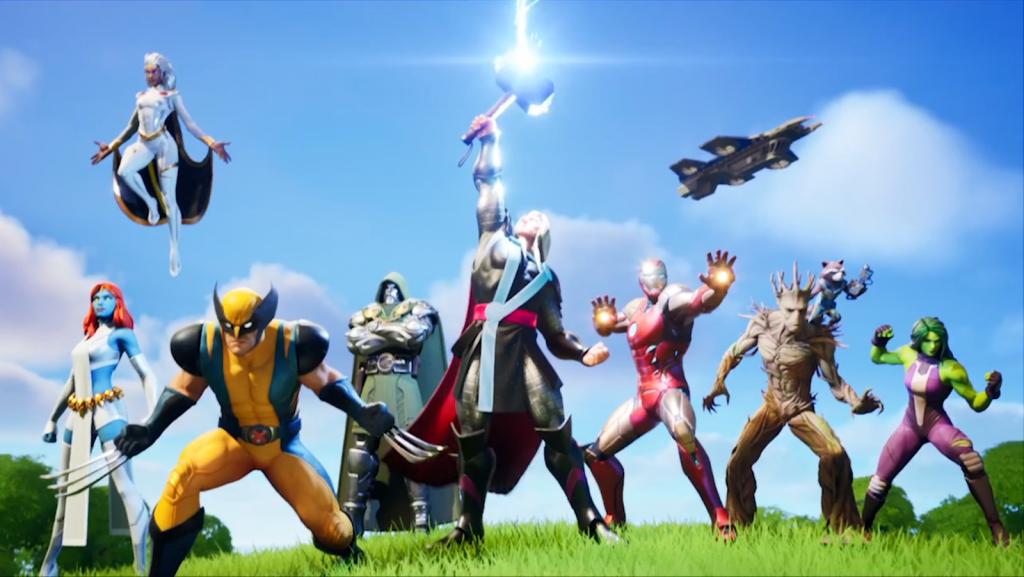 Les skins Fortnite LazarBeam Marvel payent 2 victoires