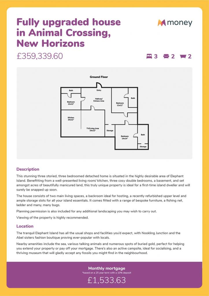 Animal Crossing Home Comparaison des prix des maisons money.co.uk
