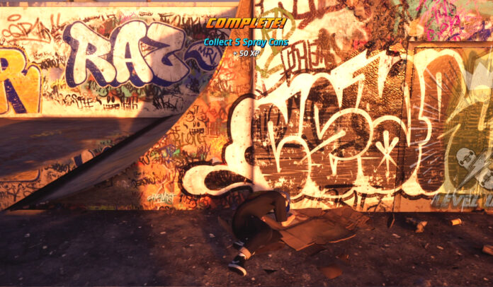 Where to collect 5 Spray Cans on Venice Beach in THPS