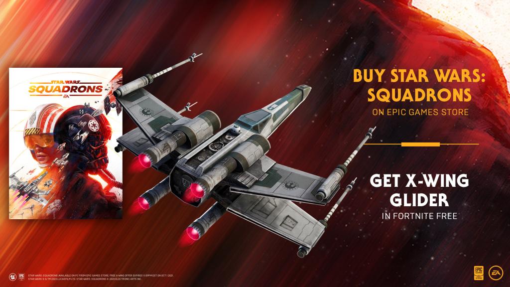 Fortnite Vanguard X-Wing Glider gratuitement comment obtenir