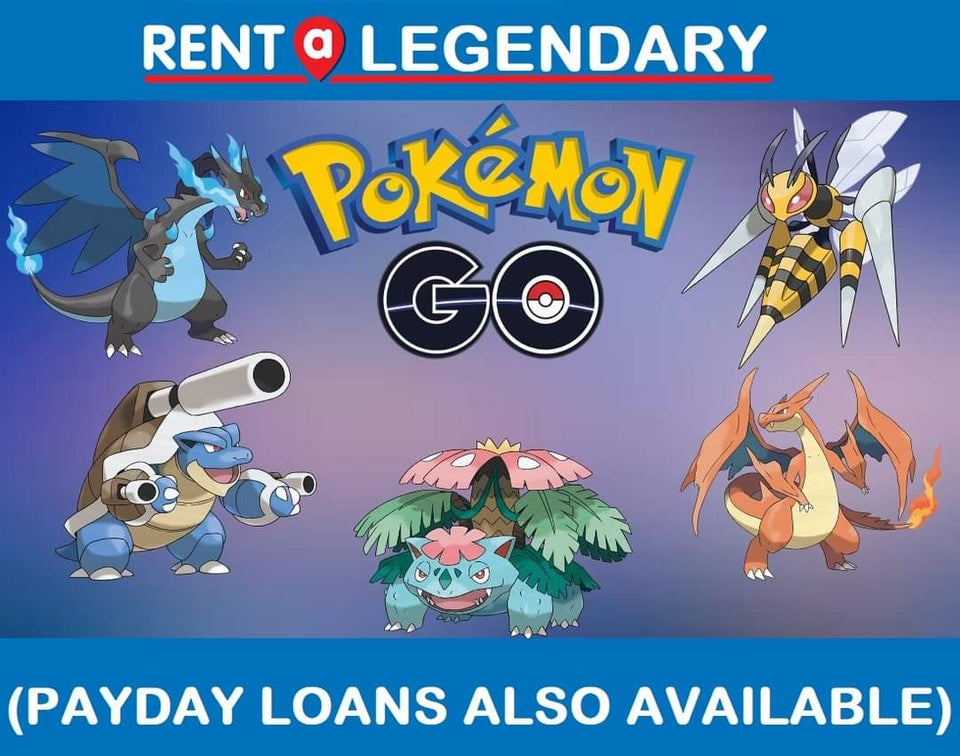 Pokemon Go Rent a legendry Payday loans also available