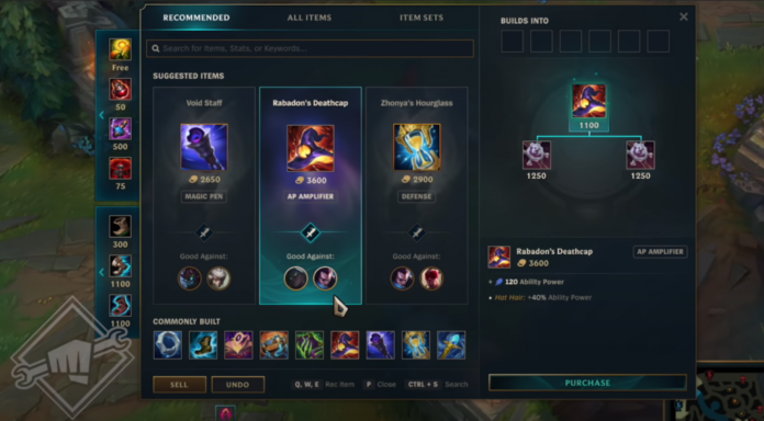 League of Legends mythic items item shop