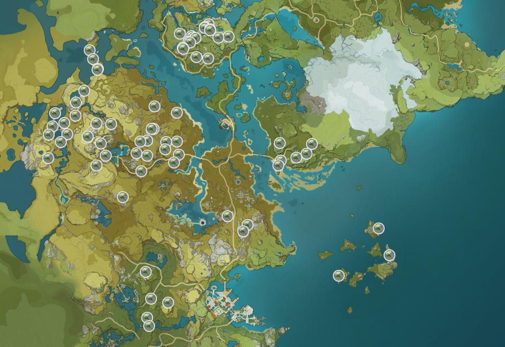 Où trouver Qingxin dans Genshin Impact