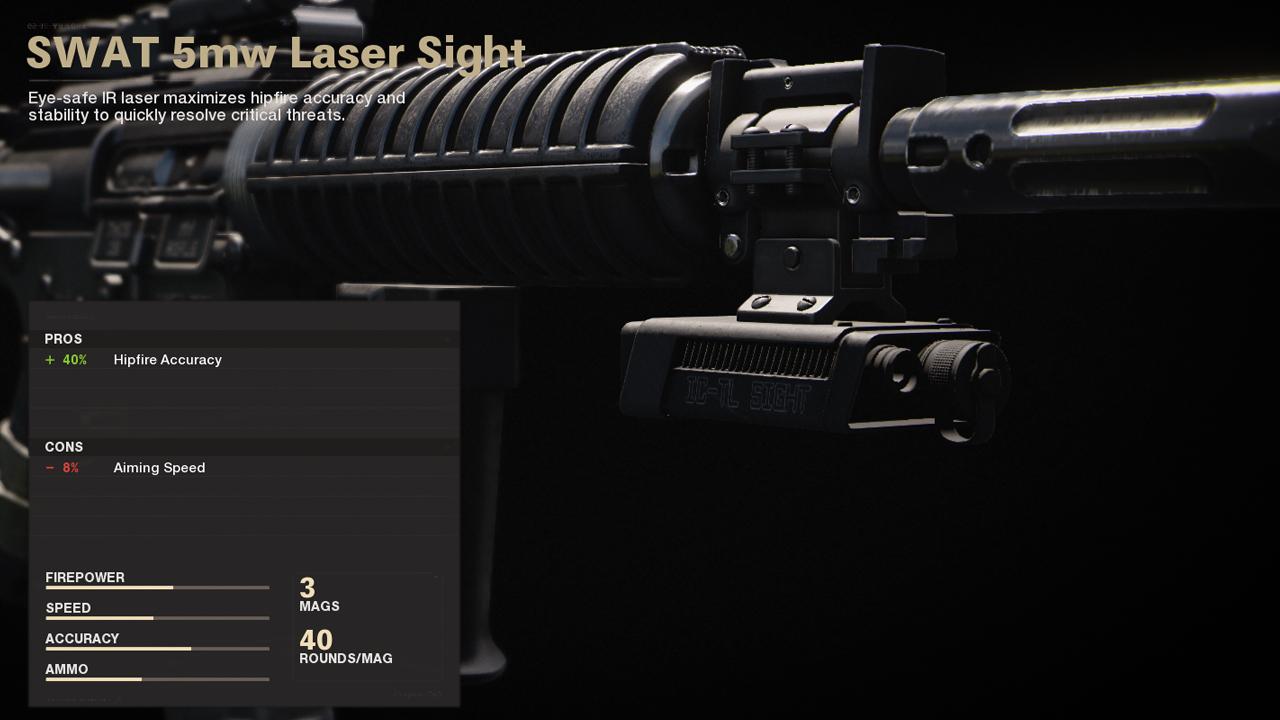 Meilleur chargement XM4 dans Call of Duty Cold War | Corps - Laser SWAT 5 mW