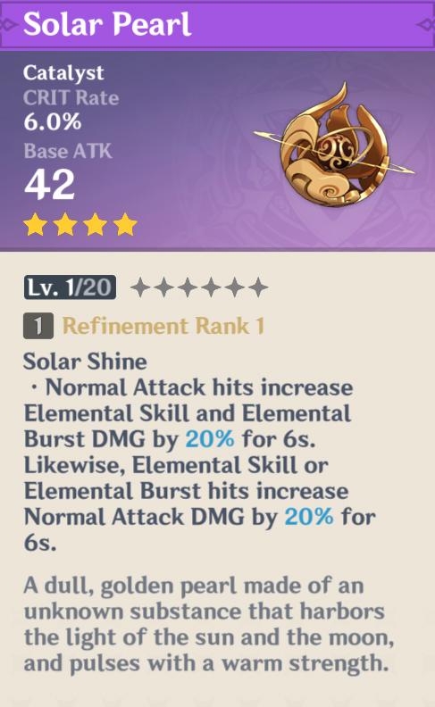 Récompenses Genshin Impact Battle Pass | Perle solaire