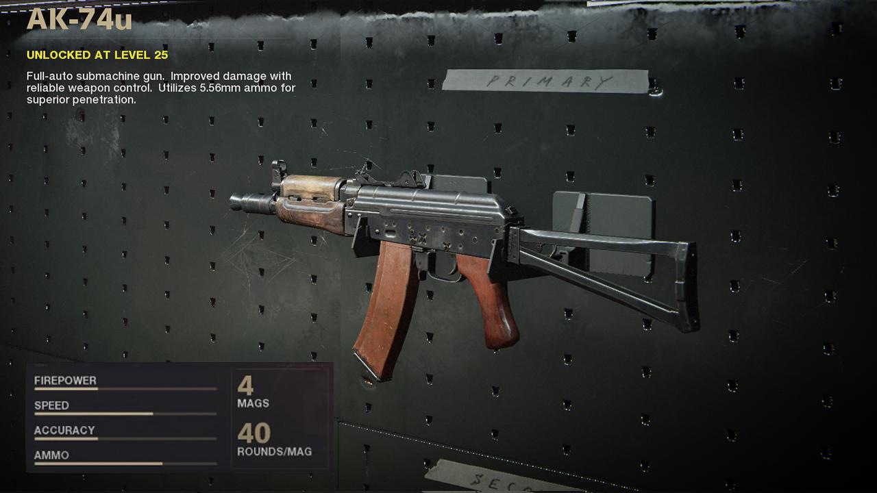 Meilleur équipement AK-74u dans Call of Duty Black Ops Cold War