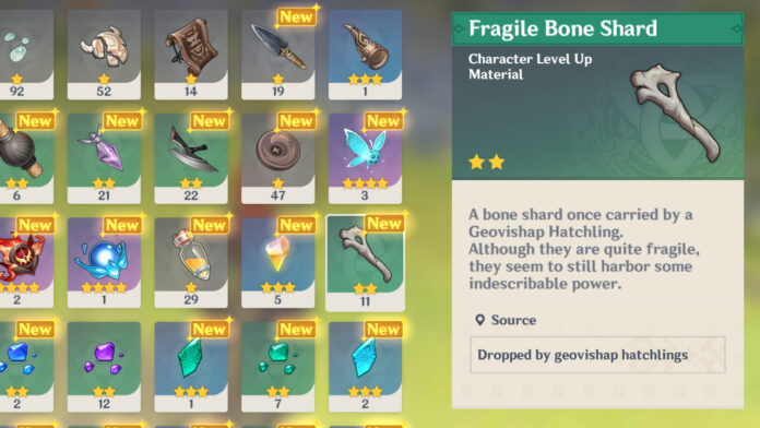 Where to get Fragile Bone Shards in Genshin Impact