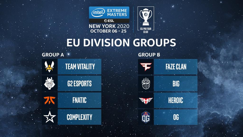 IEM New York Europe programme le format du prize pool Comment regarder les équipes