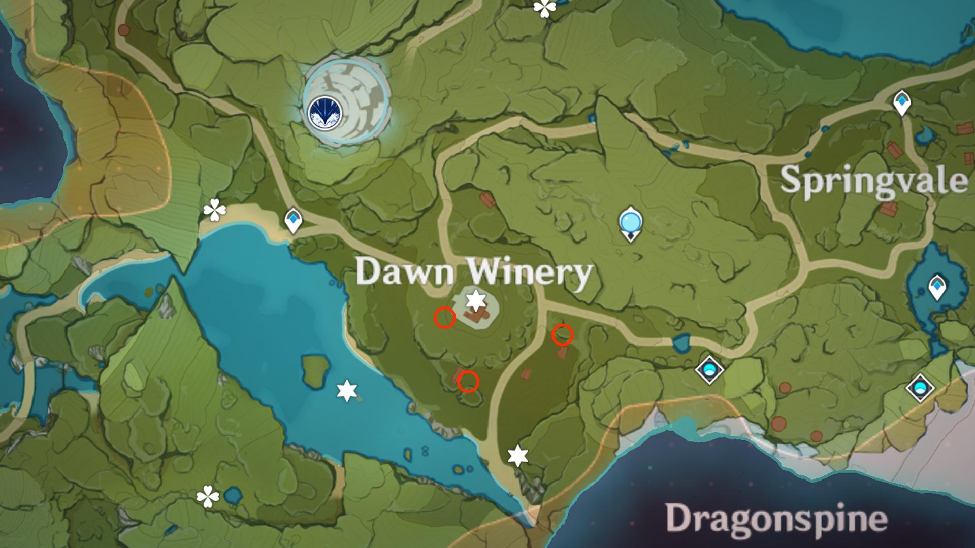 Où trouver des radis à Genshin Impact - Dawn Winery