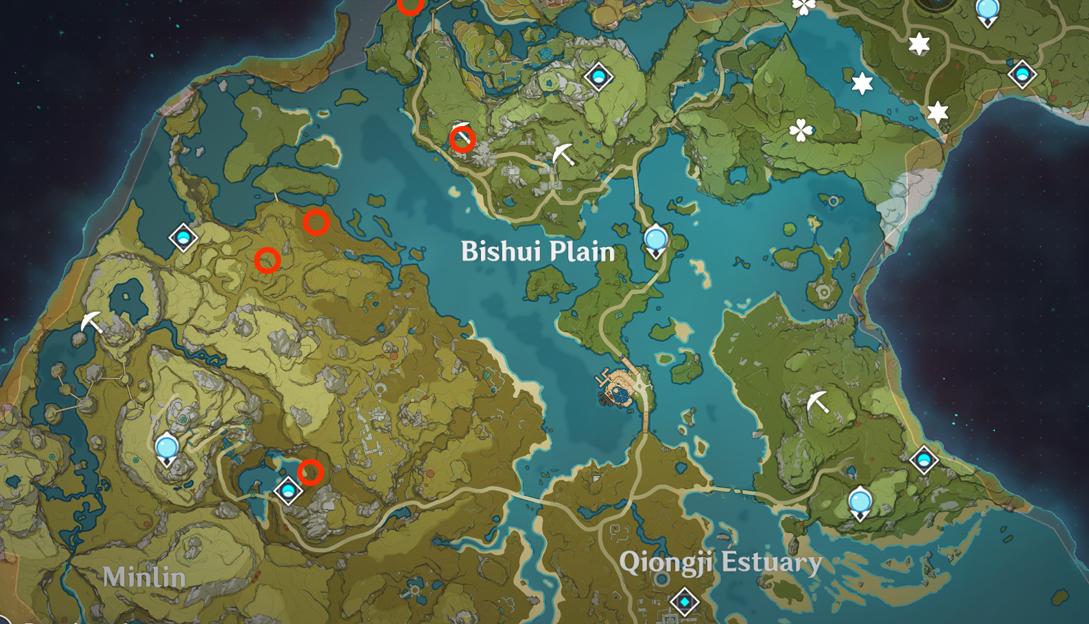 Points d'apparition du trésorier dans Genshin Impact 1