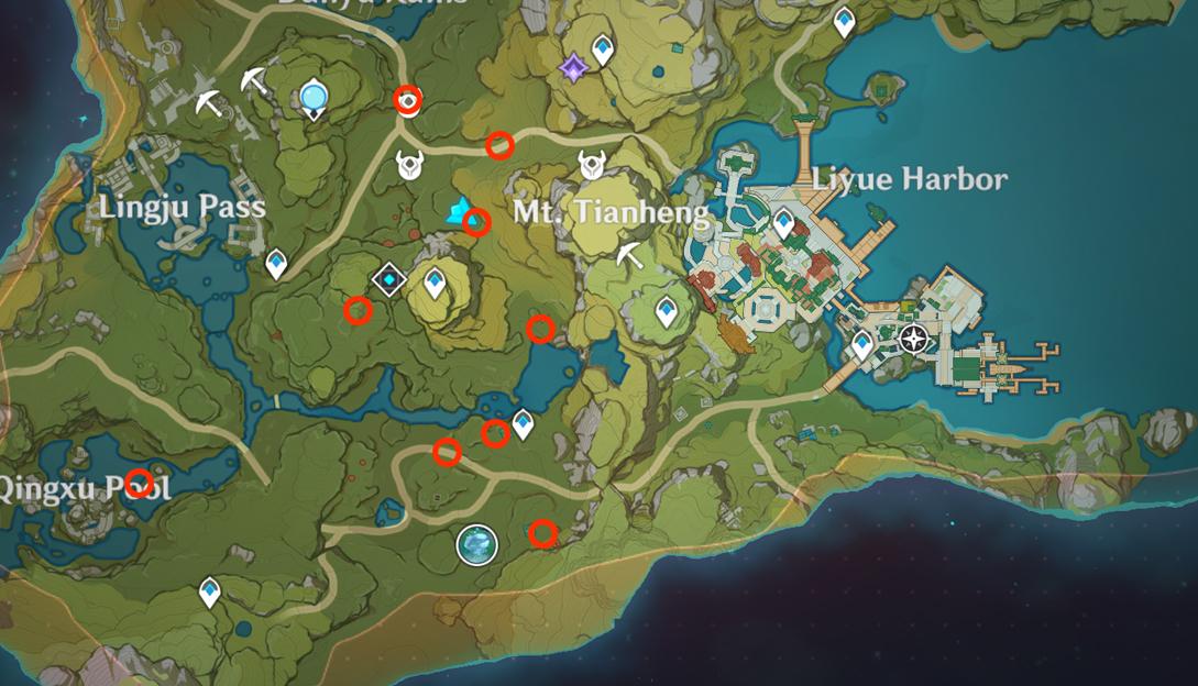 Points d'apparition de trésorier dans Genshin Impact 3