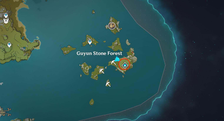 Où trouver des noyaux de cristal à Genshin Impact - Guyun Stone Forest