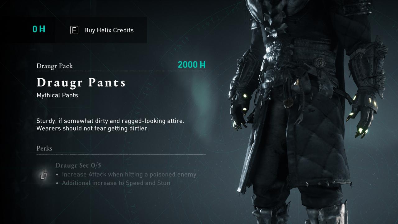 Comment obtenir de l'équipement Draugr dans Assassin's Creed Valhalla »wiki utile Un pantalon