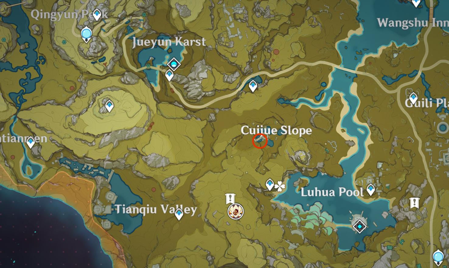 Emplacement insolite de Hilichurl 1 - Pente de Ciujue
