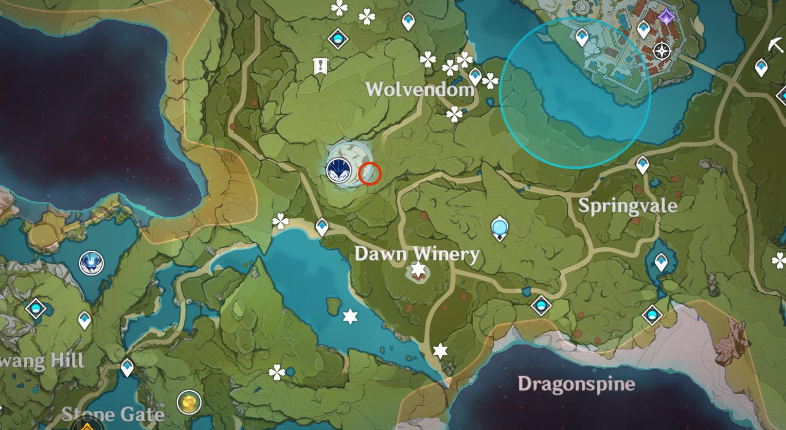 Lieu insolite de Hilichurl 3 - Loup du Nord (Boreas)