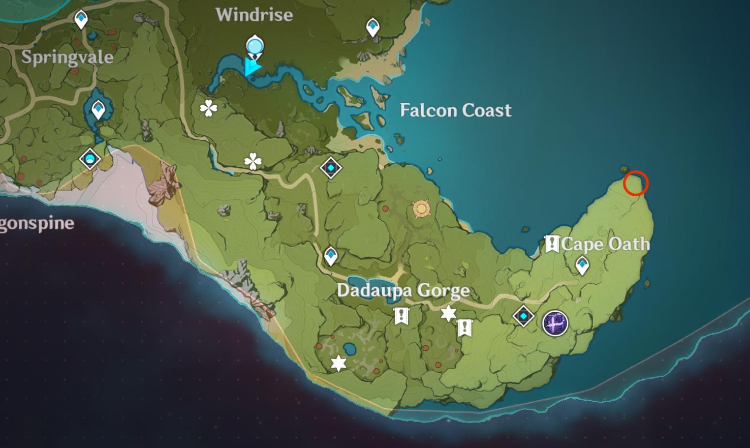Lieu insolite de Hilichurl 5 - Cape Oath