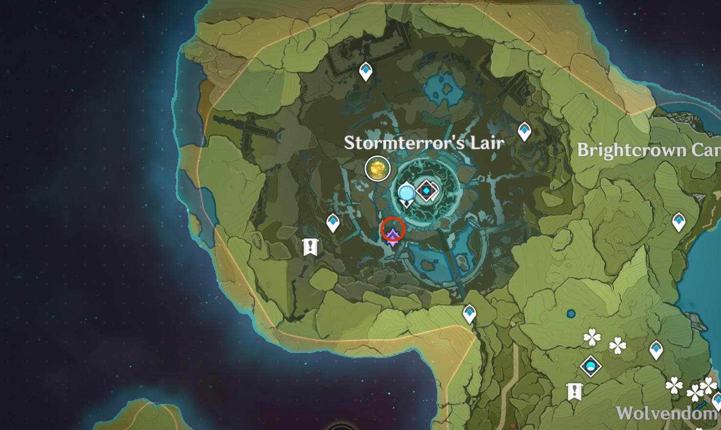 Emplacement inhabituel de Hilichurl 4 - Repaire de Stormterror