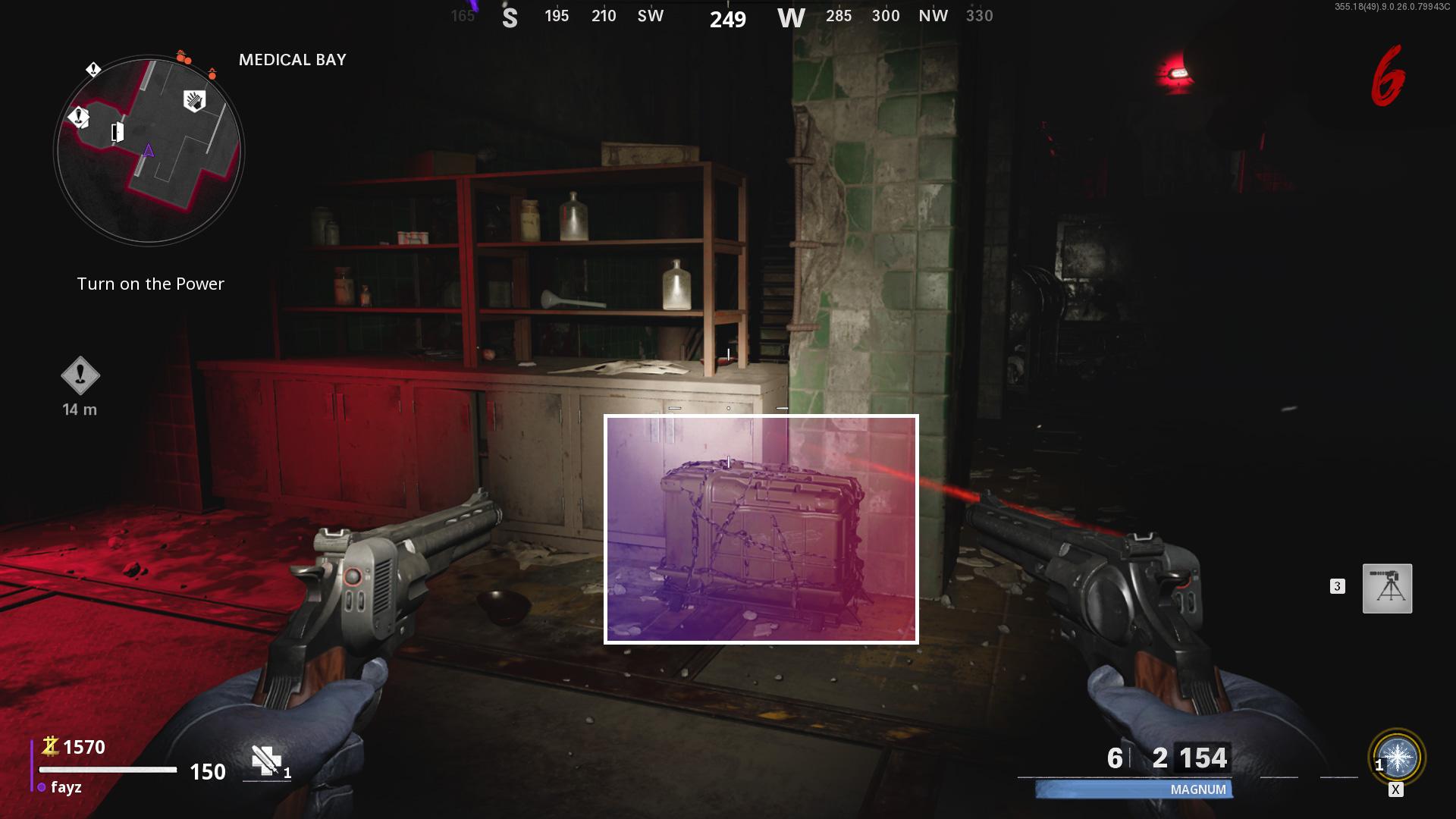 Comment améliorer les armes merveilleuses dans les zombies de la guerre froide - Cryo-Emitter - Ice Variant - Medical Bay Crate