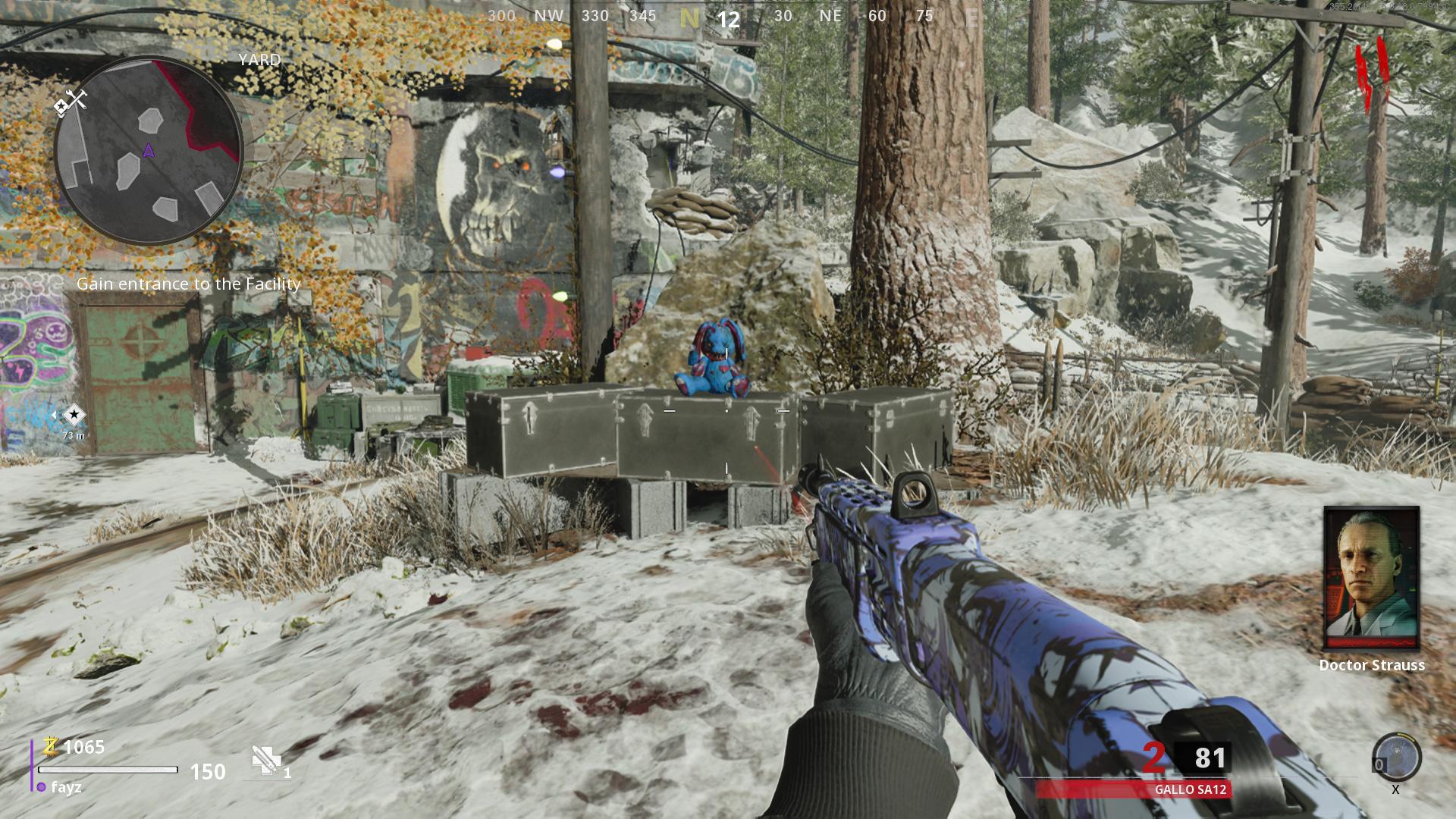 Call of Duty: Emplacements des boîtes mystères dans Black Ops Cold War Zombies - Yard