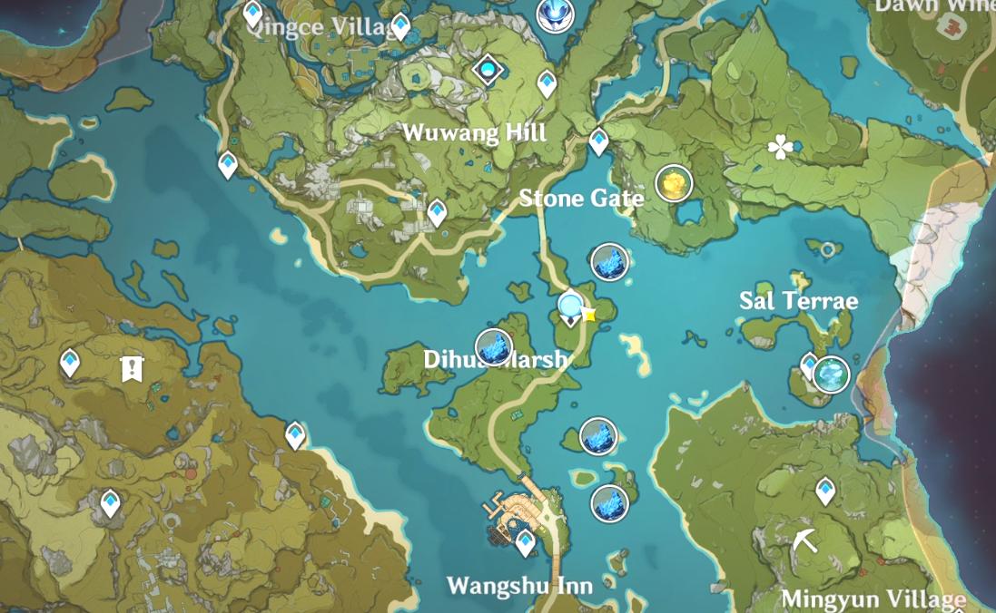 Toutes les zones de frappe de météorite dans Genshin Impact: Star of Deceitful Dreams - Zone 2