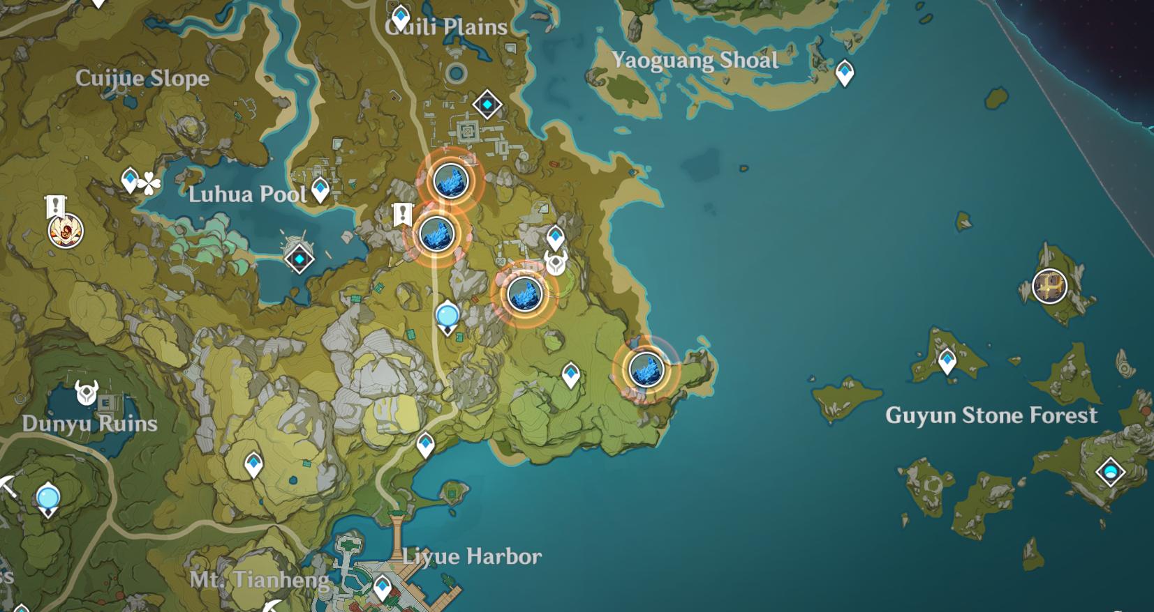 Toutes les zones de frappe de météorite dans Genshin Impact: Star of Deceitful Dreams - Zone 3