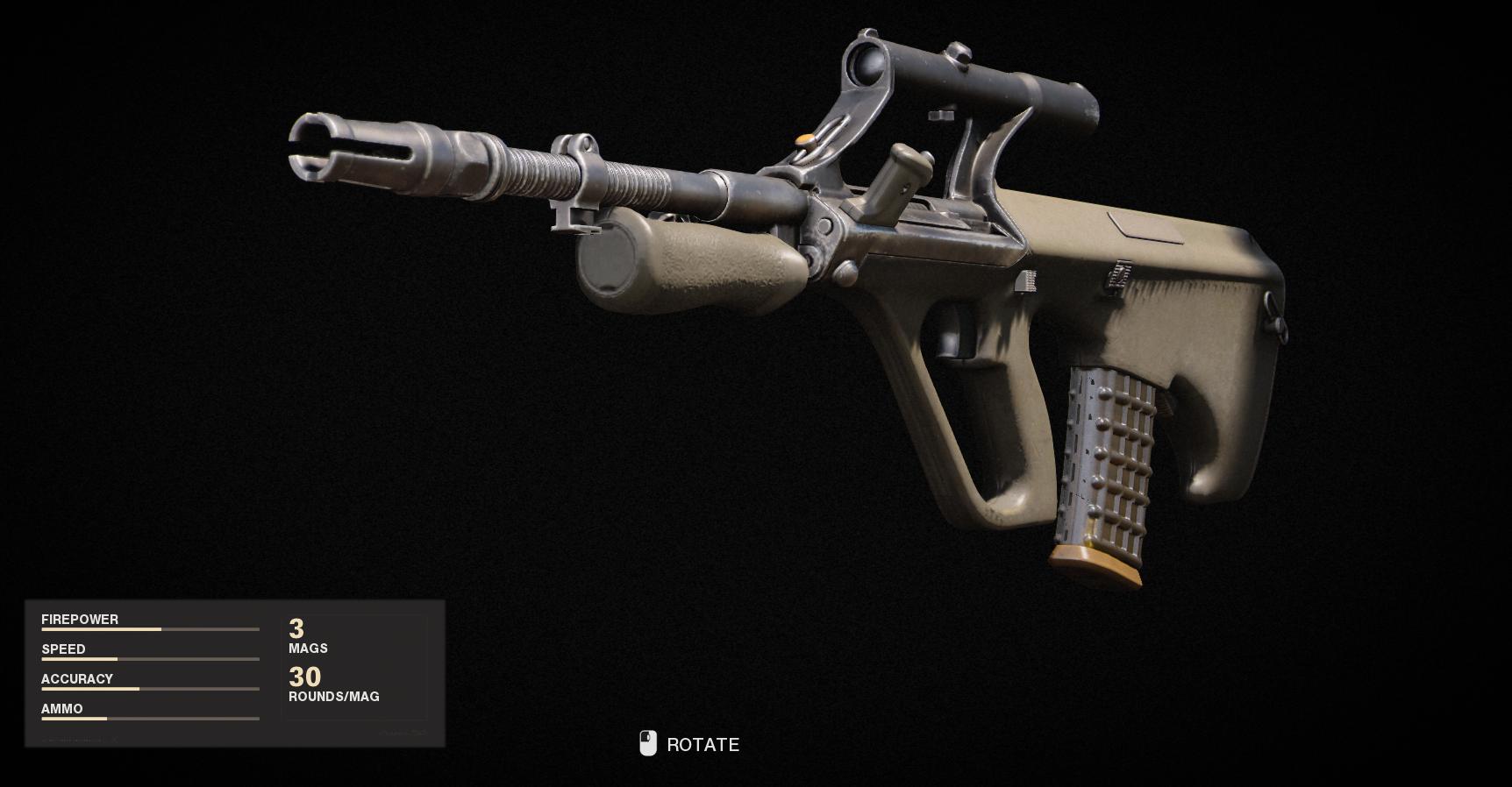 Armes de la guerre froide Call of Duty Black Ops - AUG
