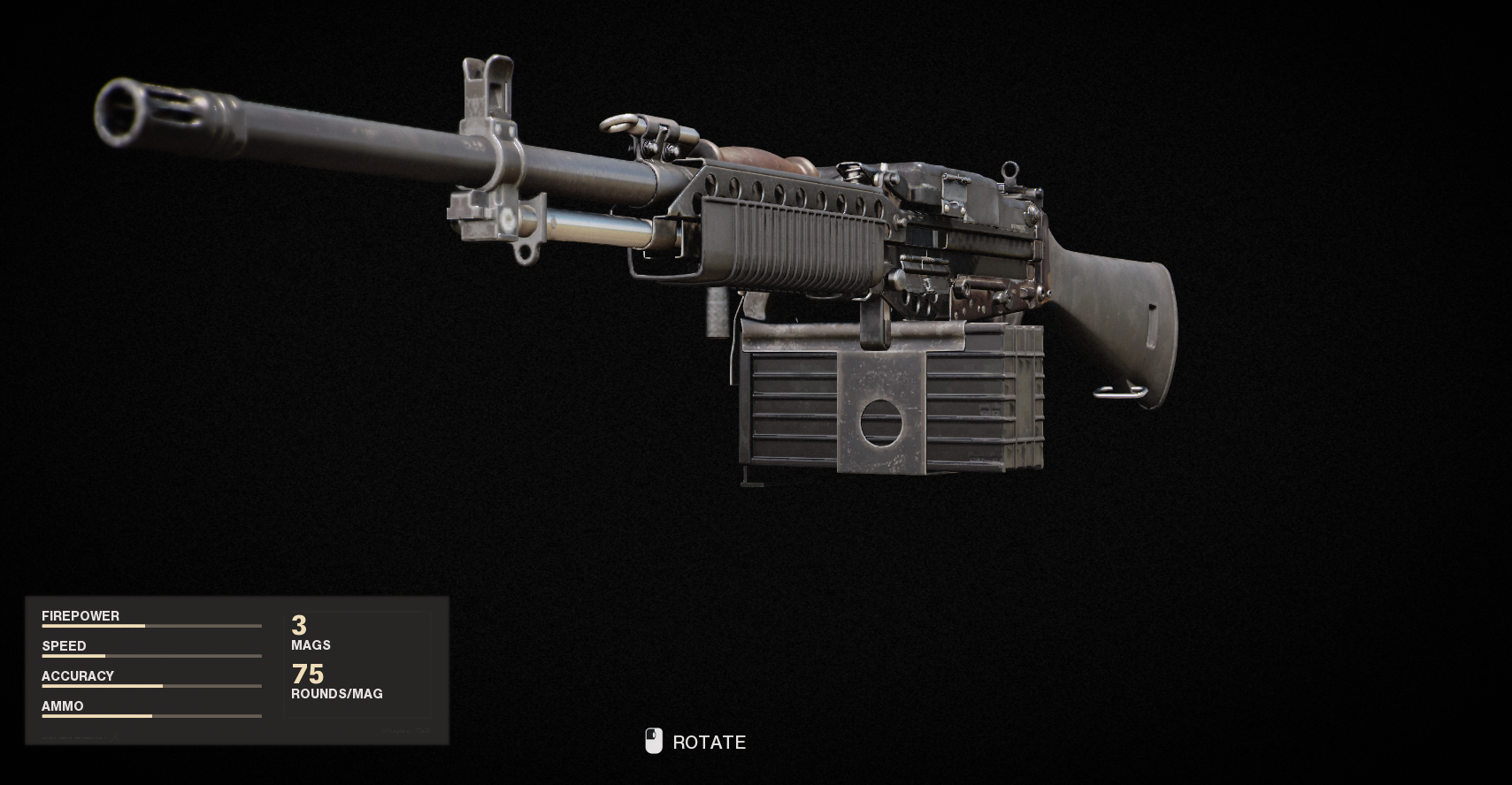 Armes de la guerre froide Call of Duty Black Ops - Stoner 63