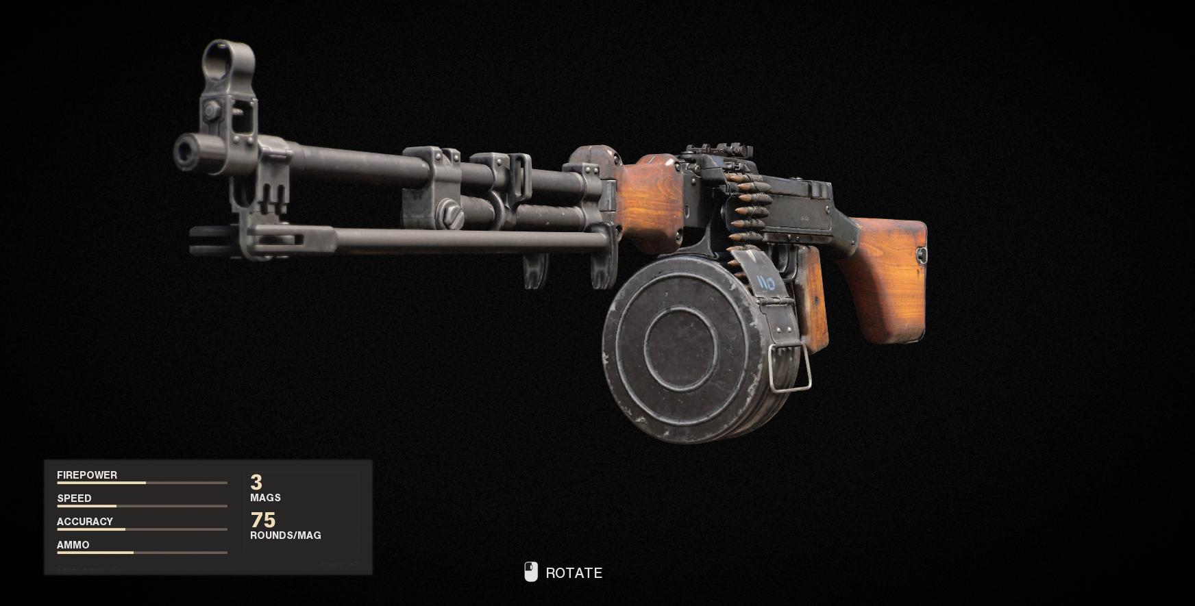 Armes de la guerre froide Call of Duty Black Ops - RPD
