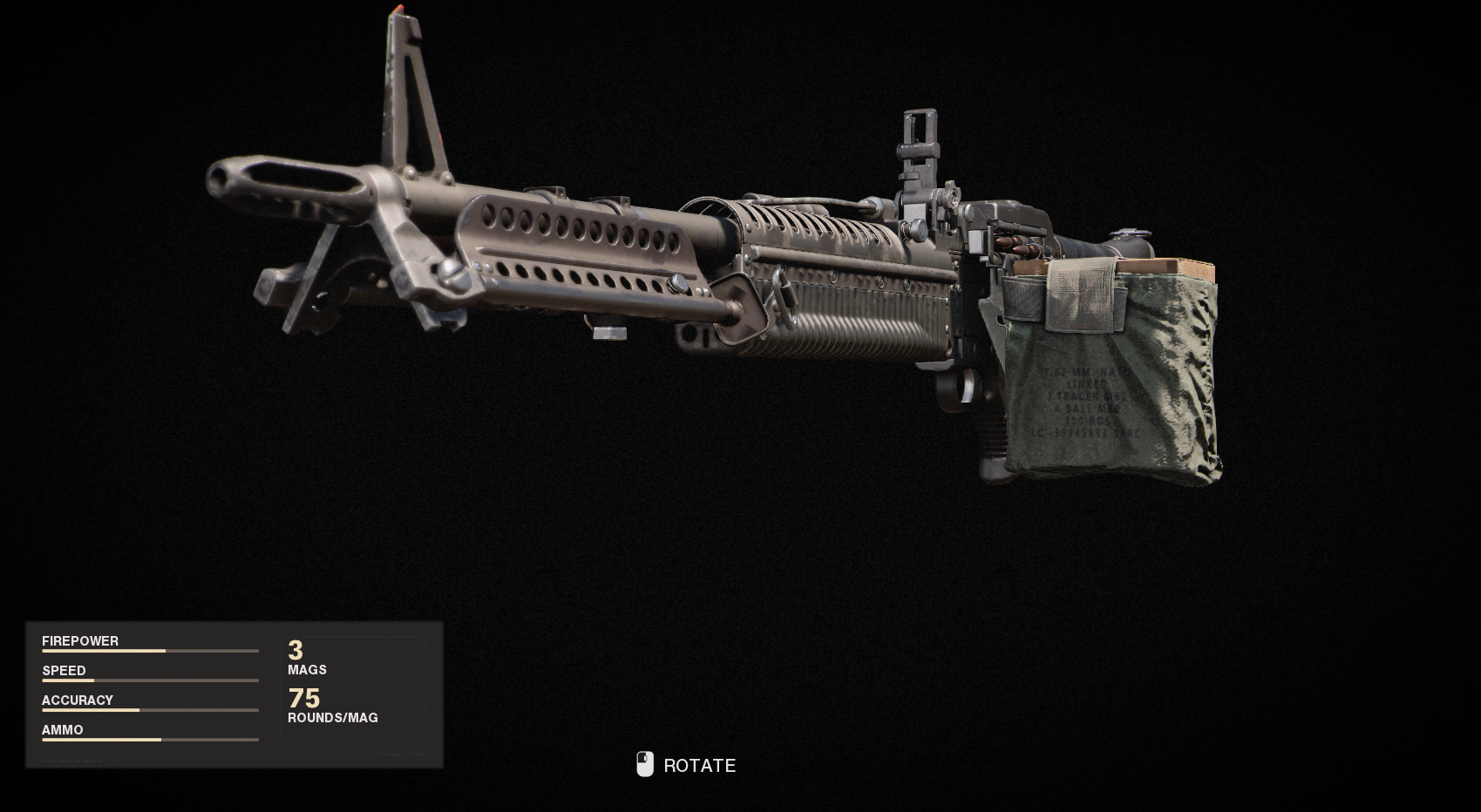 Armes de guerre froide Call of Duty Black Ops - M60