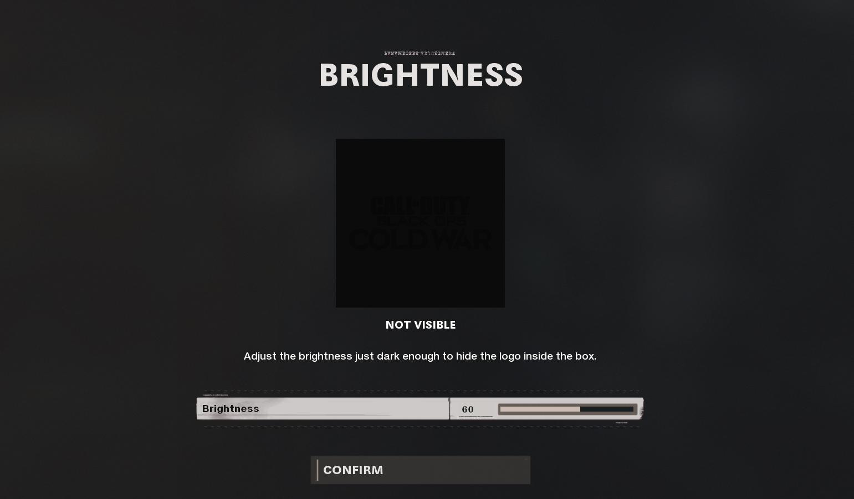 Meilleurs paramètres de visibilité dans Black Ops Cold War - Luminosité