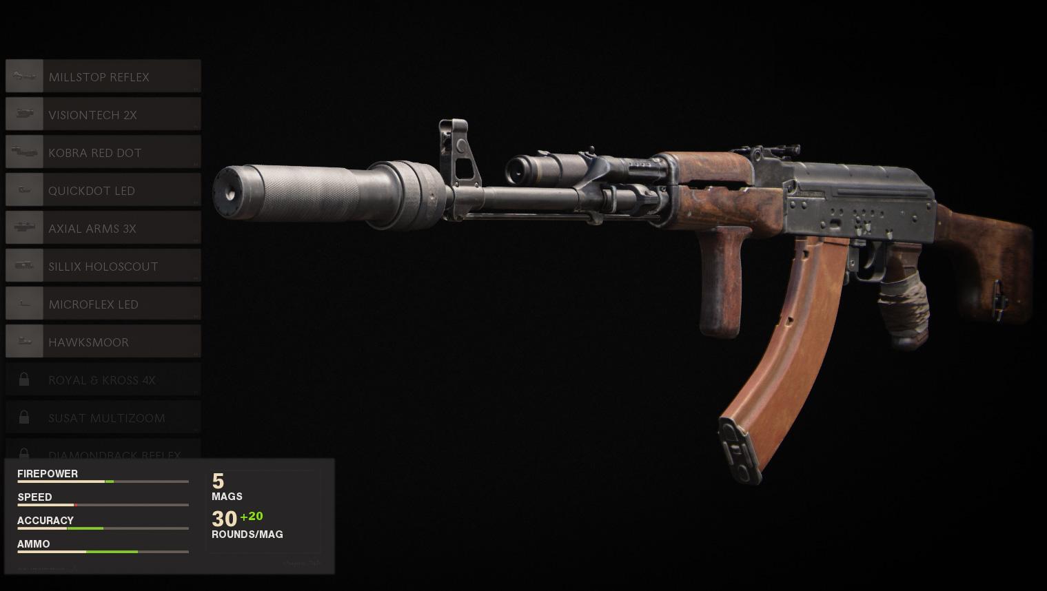 Meilleur équipement AK-47 dans Call of Duty Black Ops Cold War