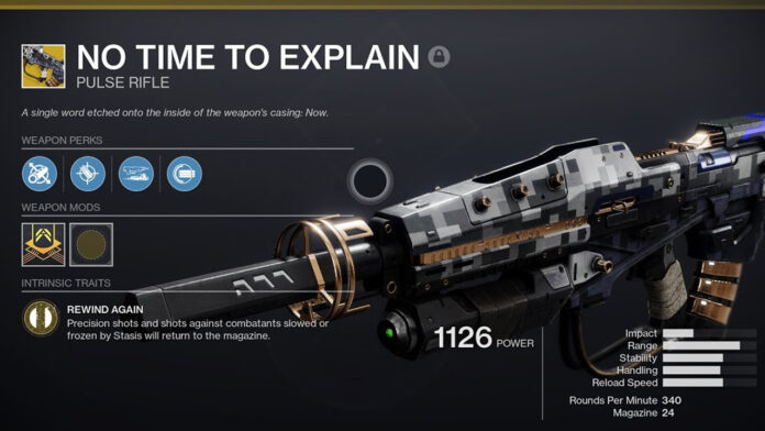 How to get the No Time to Explain Pulse Rifle in Destiny 2 Beyond Light