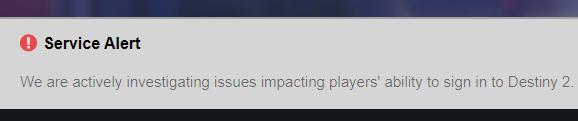 Alerte Destiny 2