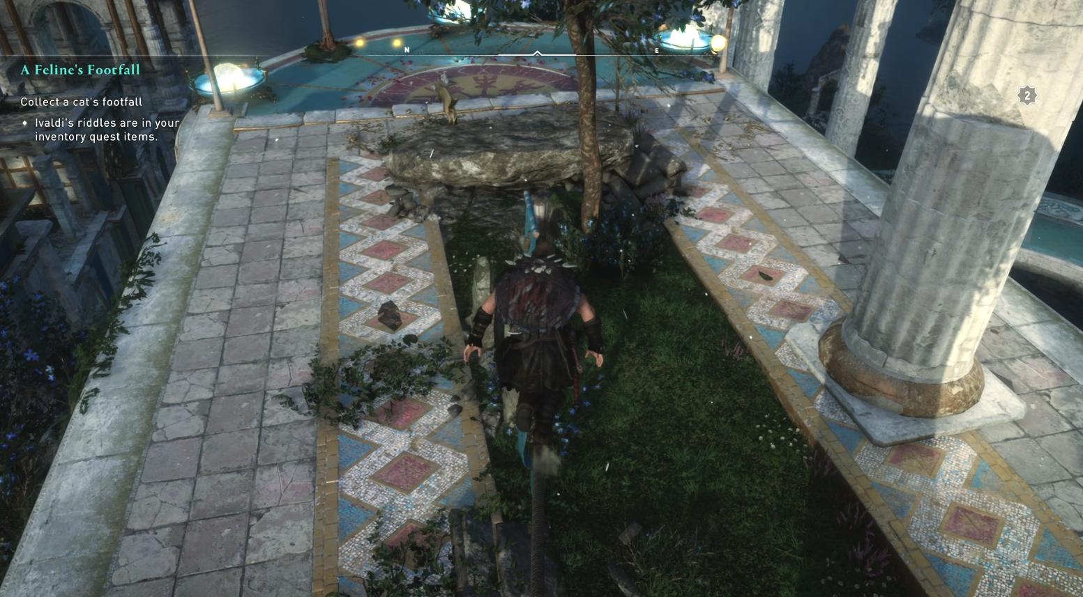 Comment collecter les pas d'un chat dans Assassin's Creed Valhalla - Cat Location 3