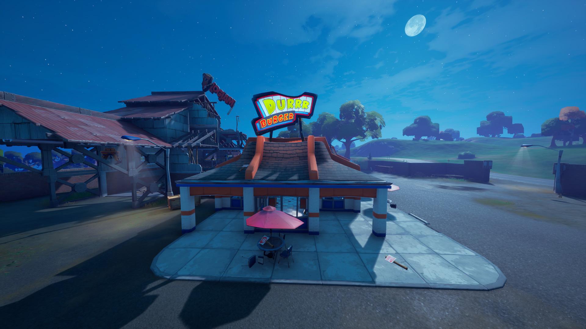 Durr Burger Location Fortnite Chapitre 2 Saison 5