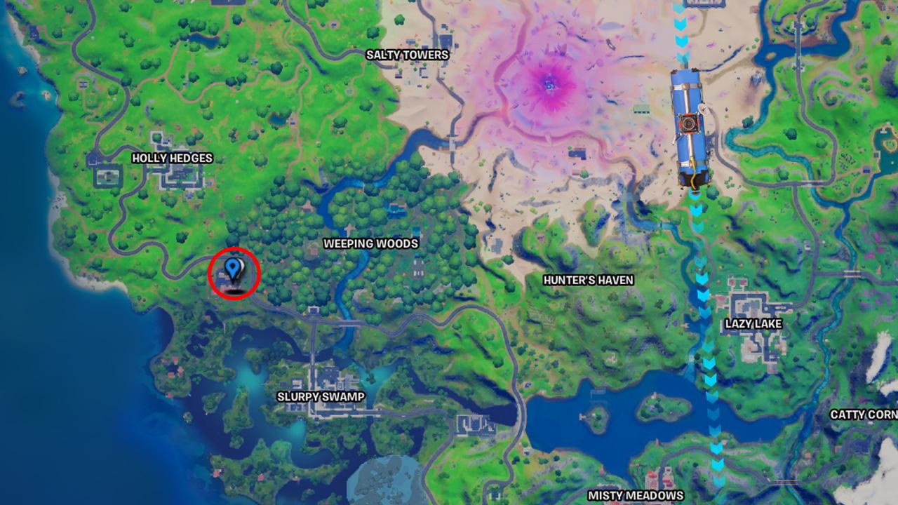 Durr Burger Location Fortnite Chapter 2 Saison 5 Carte