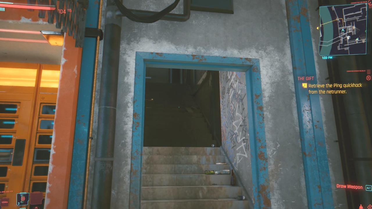 Comment compléter le cadeau dans Cyberpunk 2077 - Escaliers