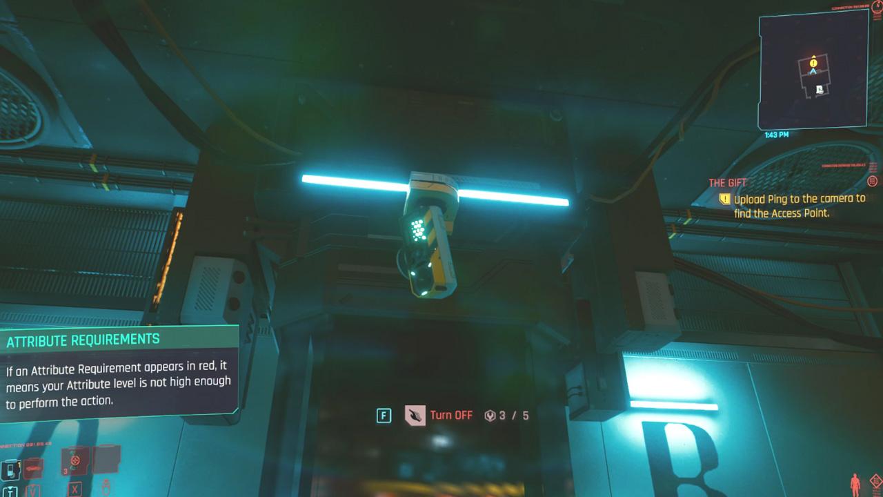 Comment compléter le cadeau dans Cyberpunk 2077 - Caméra de surveillance