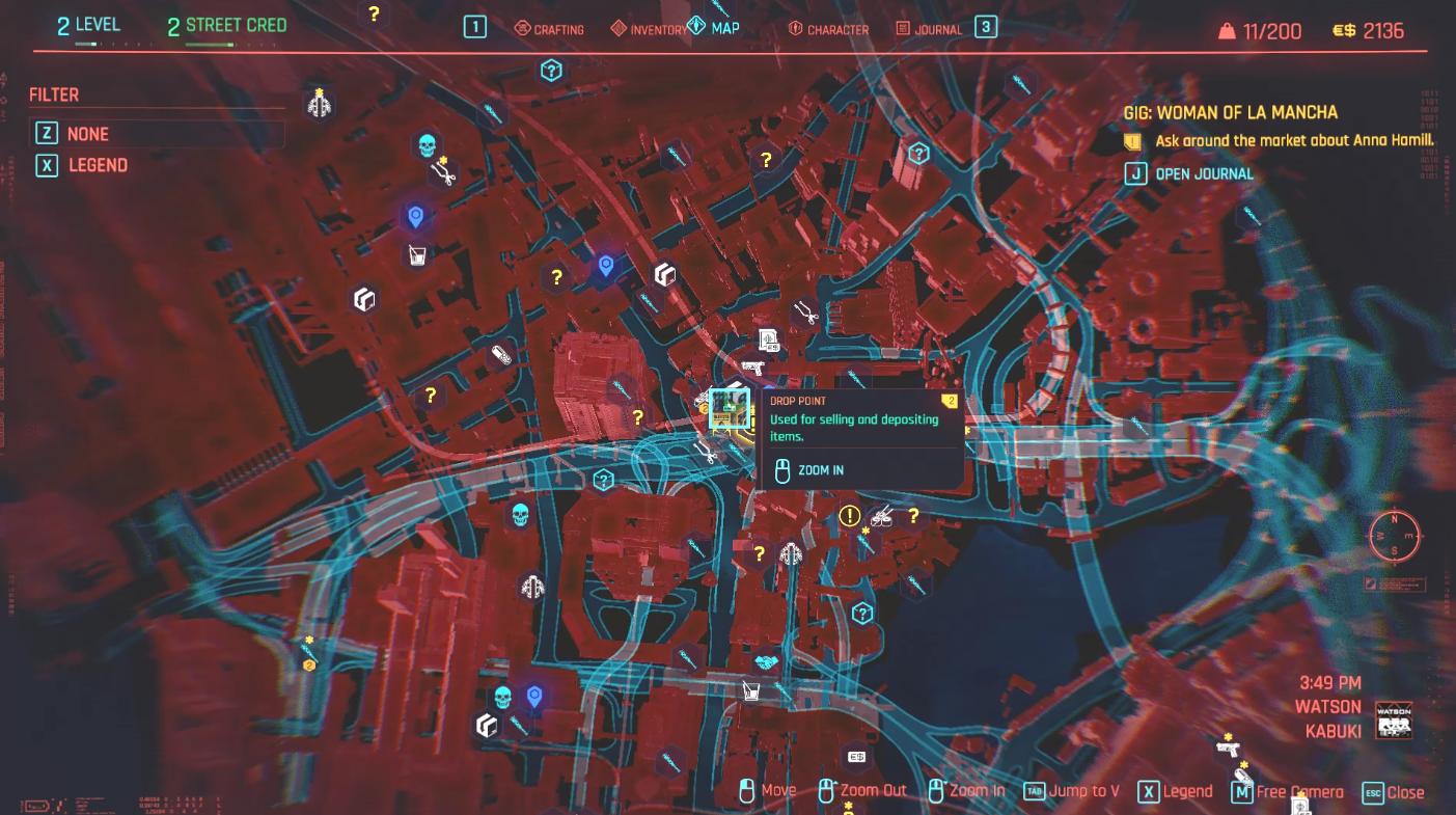 Comment trouver Anna Hamill dans Woman of La Mancha dans Cyberpunk 2077 Map