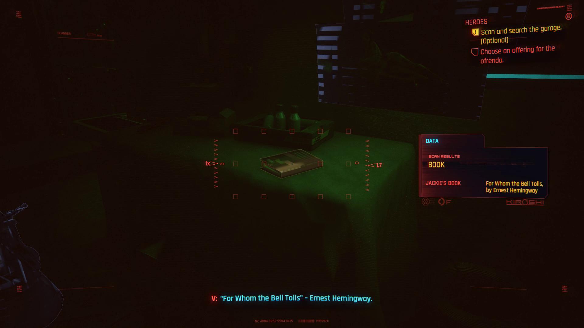 Cyberpunk 2077 Offrande Jackie