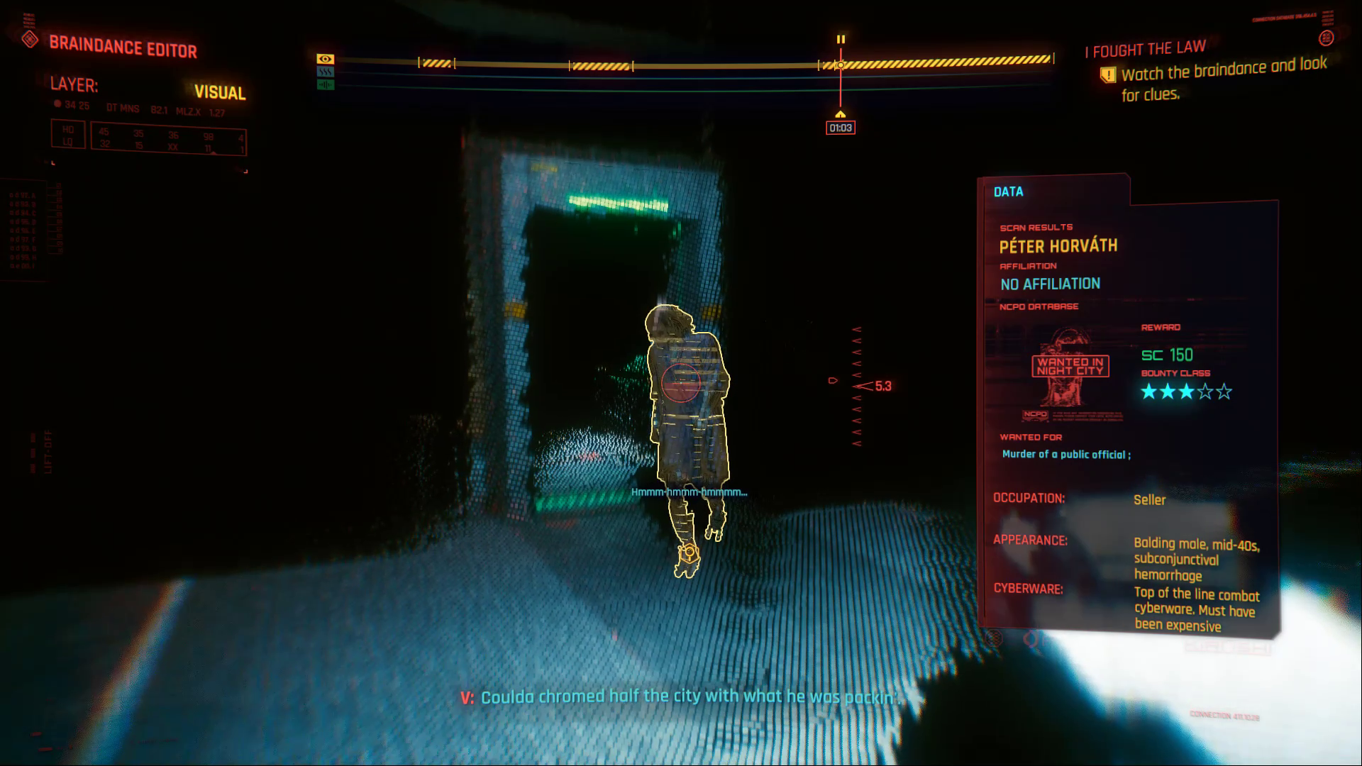 Cyberpunk 2077 Braindance Peter Horvath