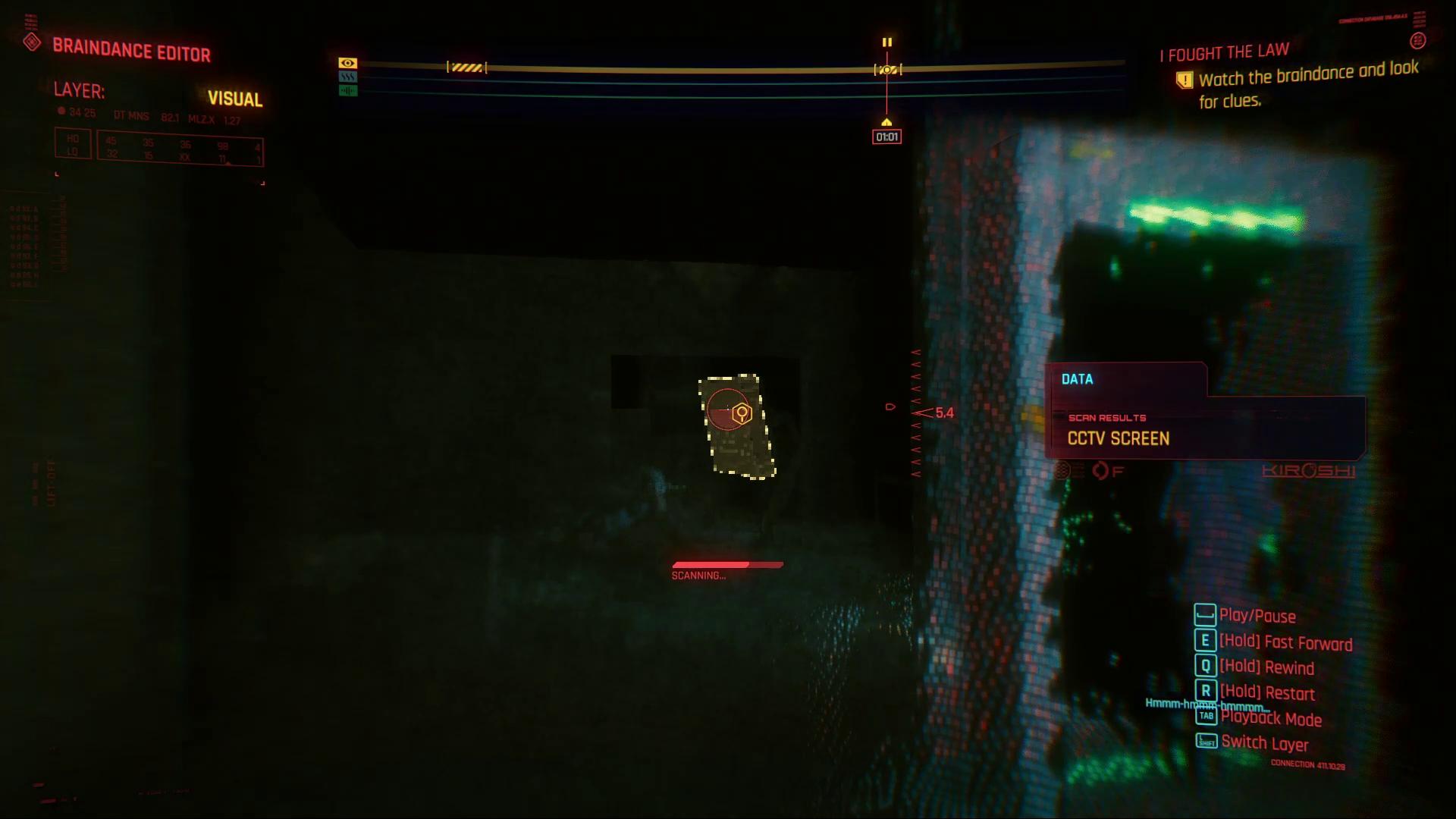 Cyberpunk 2077 CCTV Braindance
